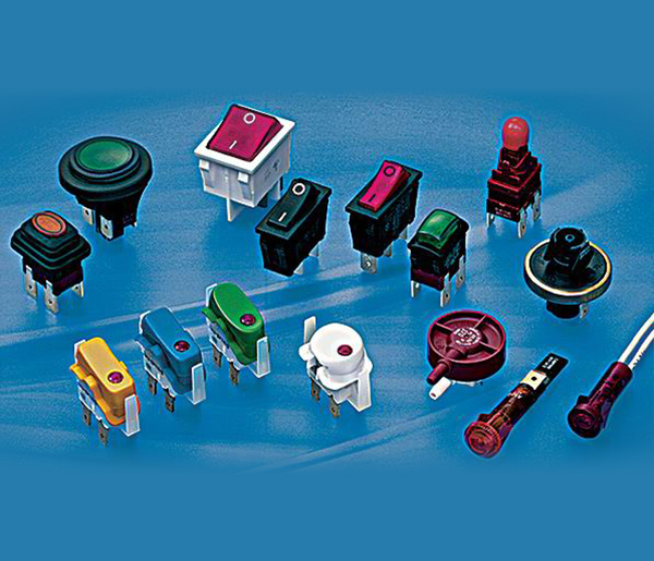 Push Button Switches、Waterproof Switches、Rocker Switches、Signal Light、Neon Light